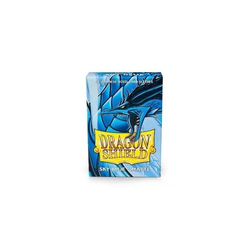 60 Protectores Cartas Dragon Shield Japanese Sky Blue